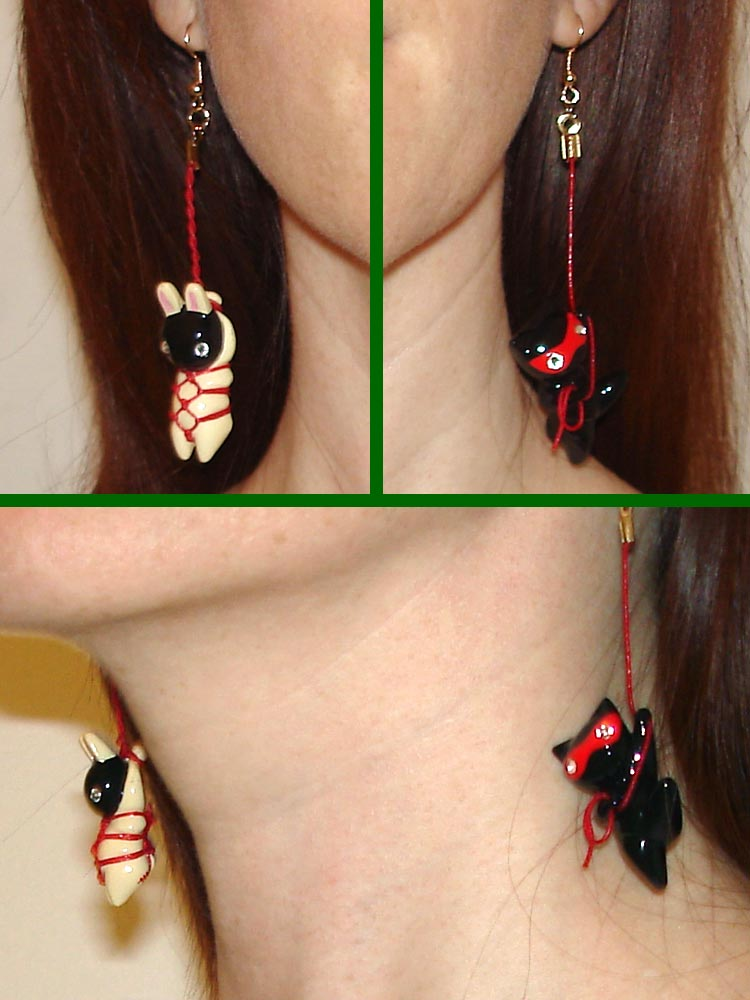 Kitanya Design Kinbaku Charm Earrings