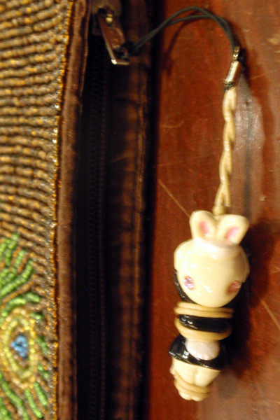 Kinbaku Charm as Zipper Pull
