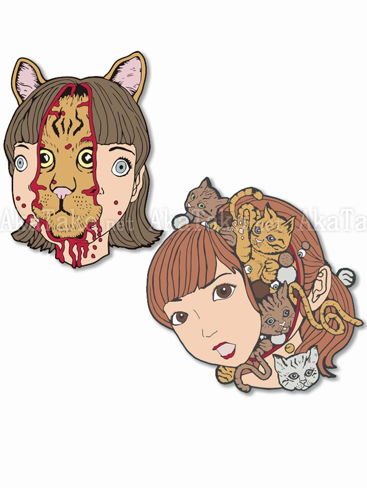Shintaro Kago Enamel Pin Cats