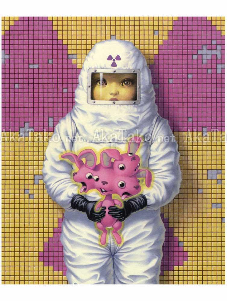 Trevor Brown Radioactive Rabbit painting