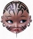 Trevor Brown - Tattooed Doll Head